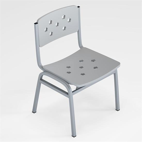 学校课椅四脚 钢制课椅培训辅导