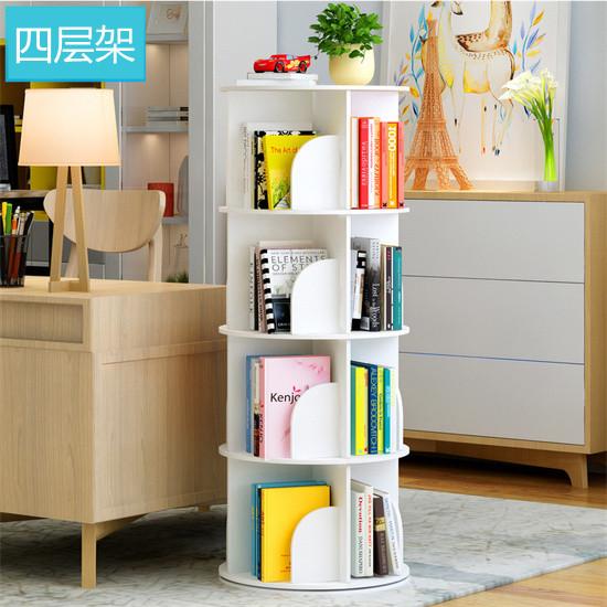 学校旋转书架书柜 PVC书架展示架立式