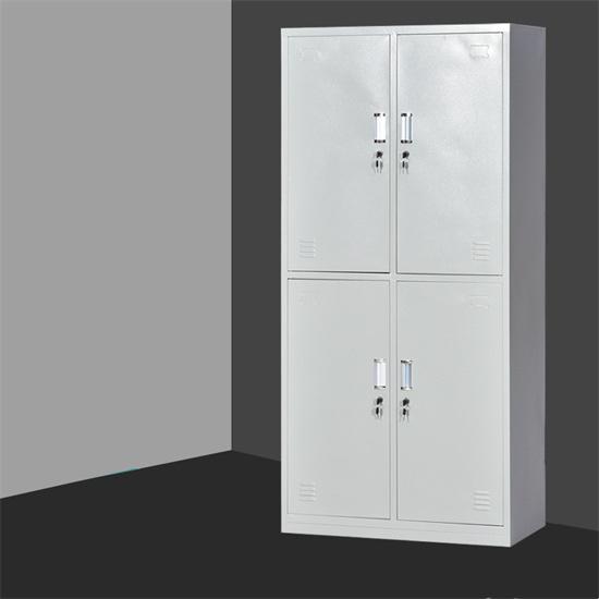 宿舍铁皮柜更衣柜带锁 铁皮更衣柜储物柜立式