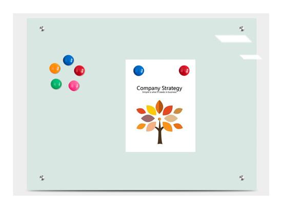 钢化玻璃白板教室 教学磁性写字白板