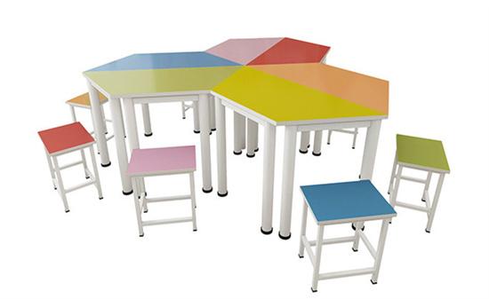 智慧教室互动课桌学习桌 互动教室课桌梯形可拼接
