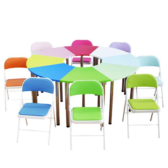 学校互动课桌互动课堂 中小学生互动课桌圆弧形