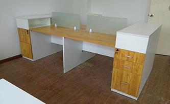 办公桌组合柜一体-品源学校家具定制