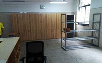 体育器材室置物架-品源学校家具定制