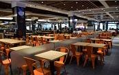青浦区盈浦街道学校报告厅组合桌椅