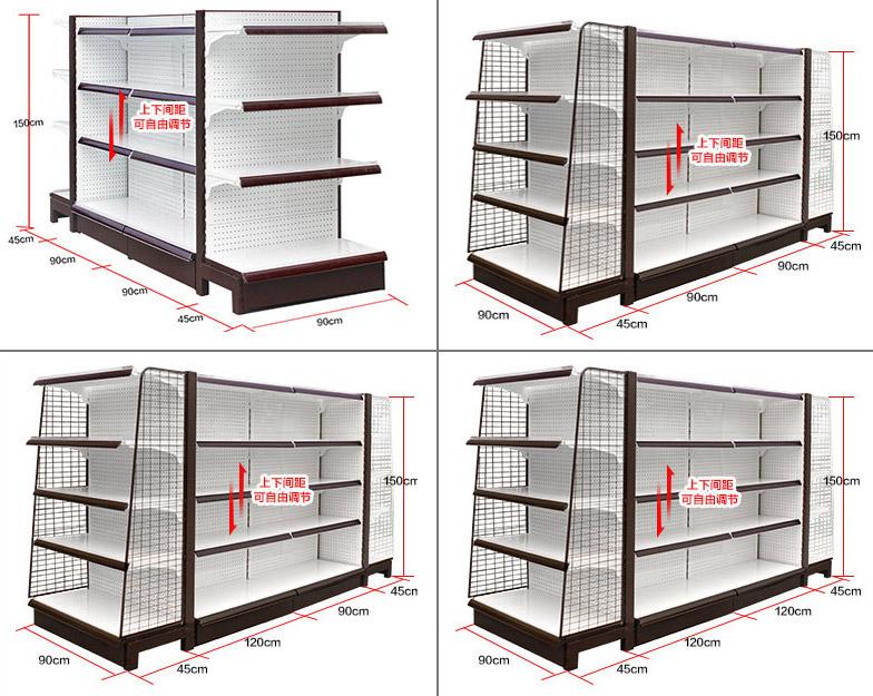 超市货架CAD图_超市货架尺寸-品源超市货架