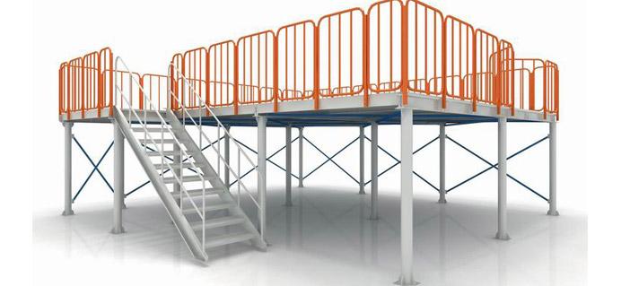 中型阁楼式货结构