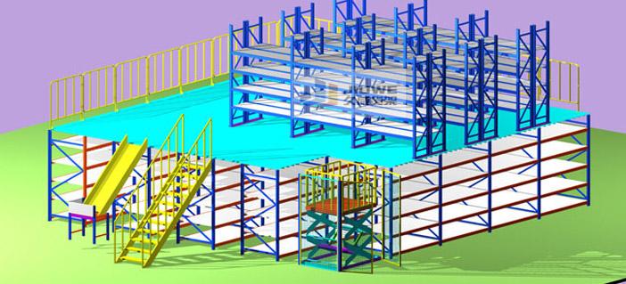 中型阁楼式货立柱的规格