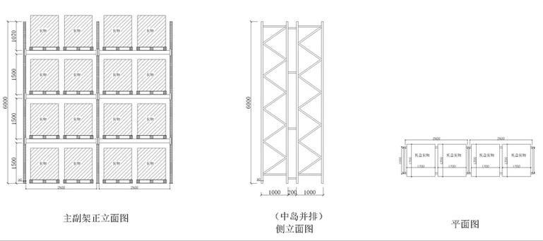 横梁式仓储货架尺寸图