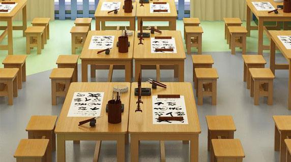 学生培训课桌椅