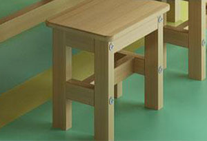 学生培训课桌椅水性漆