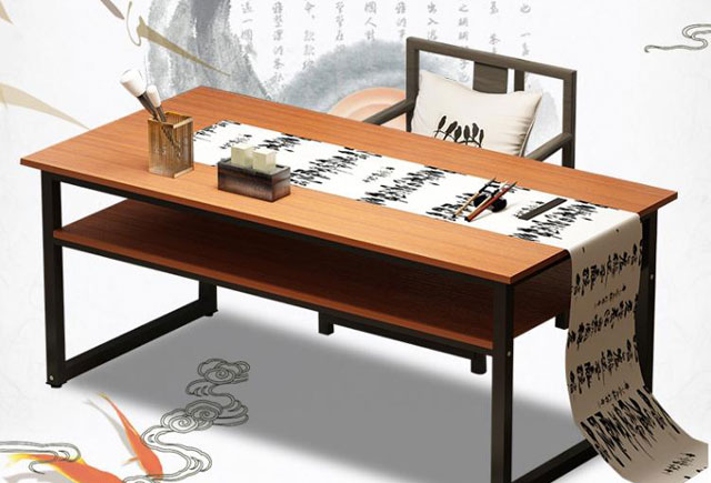 書法教室桌子—書法用長桌子—書法培訓桌子