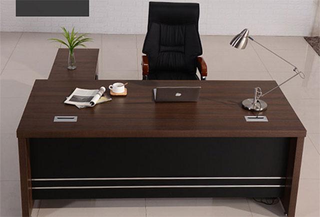 豪华总裁办公桌 实木贴皮办公班台 WSBT037