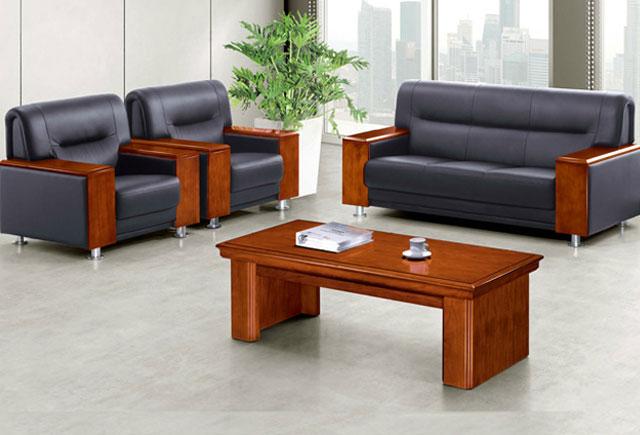 真皮辦公沙發—真皮實木辦公沙發—三人真皮沙