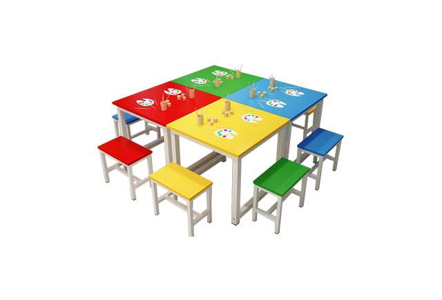 儿童培训桌子—儿童培训桌椅—幼儿园家具