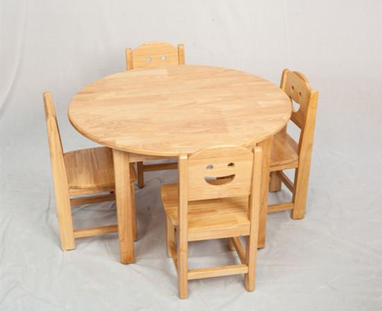 早教中心桌椅橡木桌 早教�和�桌椅�A桌梅花桌