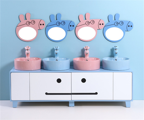 幼儿园儿童台盆柜亲子柜 幼儿园洗手台盆柜洗脸盆
