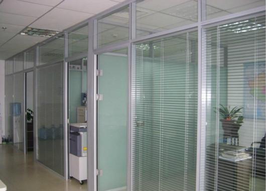 上海玻璃隔断墙 隔断办公室 双玻