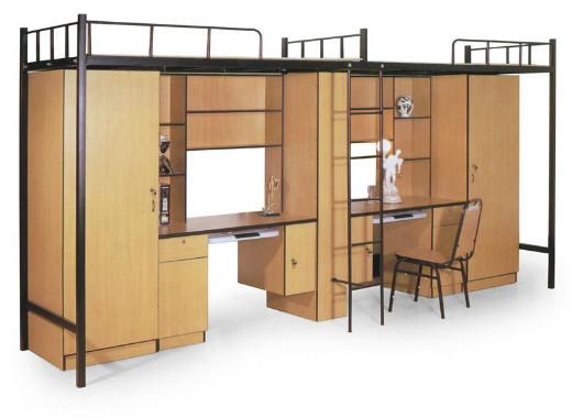 现代板式简约家具定制 学生宿舍