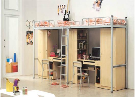 大学宿舍公寓床 自带书柜双层床 XSC20150902