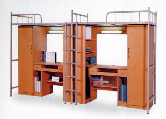 木质电脑桌学生床 公寓床 XSC201