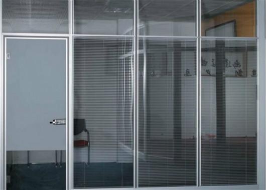 玻璃高隔断墙 双玻璃百叶隔断 上