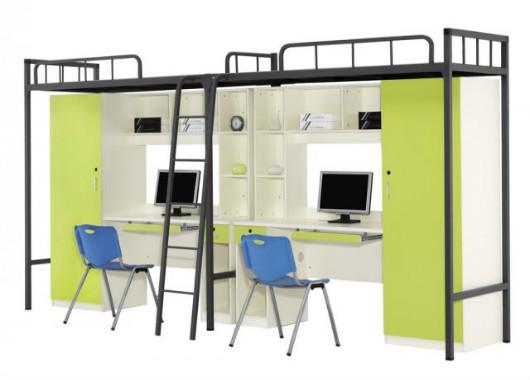 上鋪雙層學生床 時尚宿舍床 XSC20150905