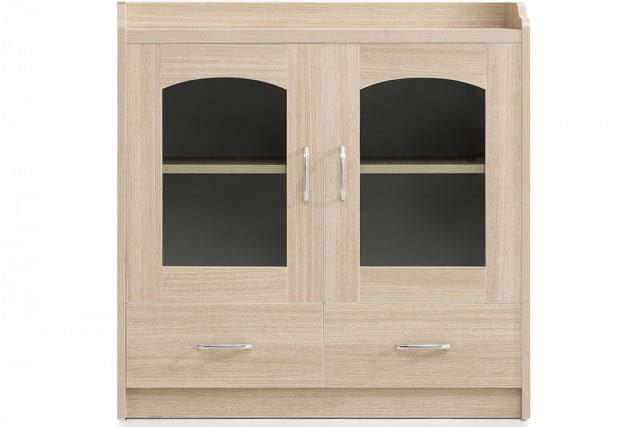 双层隔板茶水柜 实木玻璃门矮式柜 储物柜 定制储物柜  WCSG002