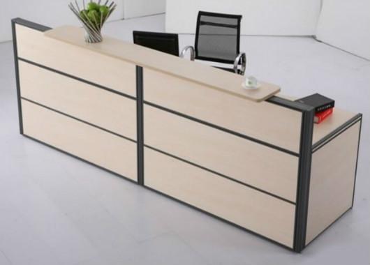 前台办公桌定做 时尚板式接待台 WQT013