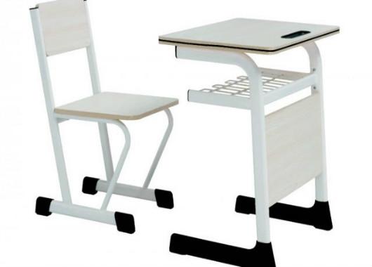 单人学生桌椅 板式学生课桌 KZY150901
