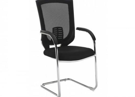会议椅可堆叠 黑色弓形网布椅 HY