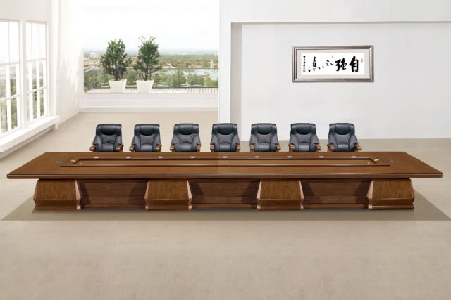 油漆会议桌长桌 实木贴皮大会议