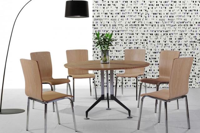 现代简约圆形餐桌椅 茶餐厅餐桌