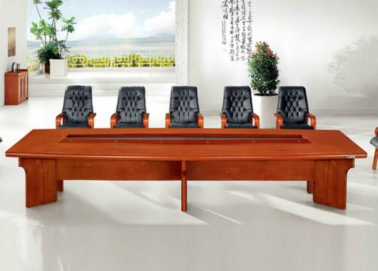 简约现代大型会议桌 实木贴皮会
