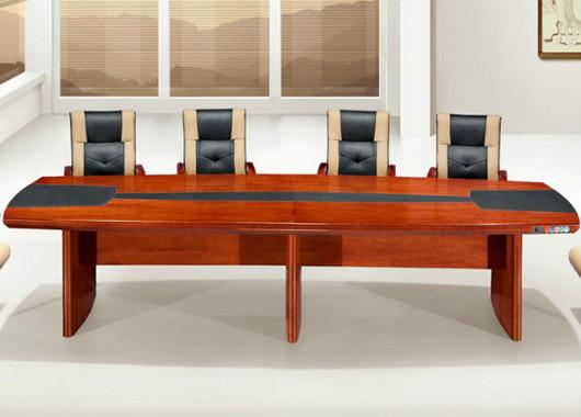 实木喷漆会议桌椅 简约现代条形会议桌 SHYZ018