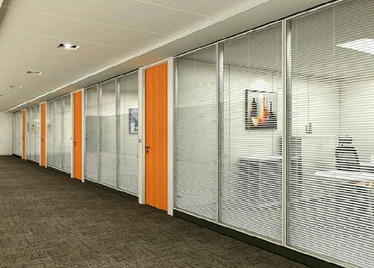 钢化玻璃隔间 办公室会议室隔断 隔断办公室 WGGP013