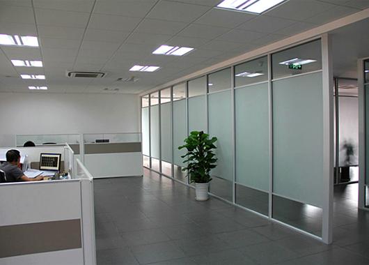 单层玻璃隔断 隔断办公室 磨砂玻
