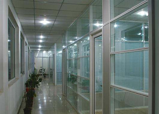 上海高隔断定制 会议室隔断间 铝合金百叶隔断 WGGP020