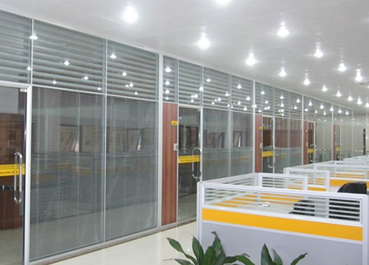 公司玻璃高隔断 上海百叶玻璃隔断 双玻璃百叶隔断 WGGP024