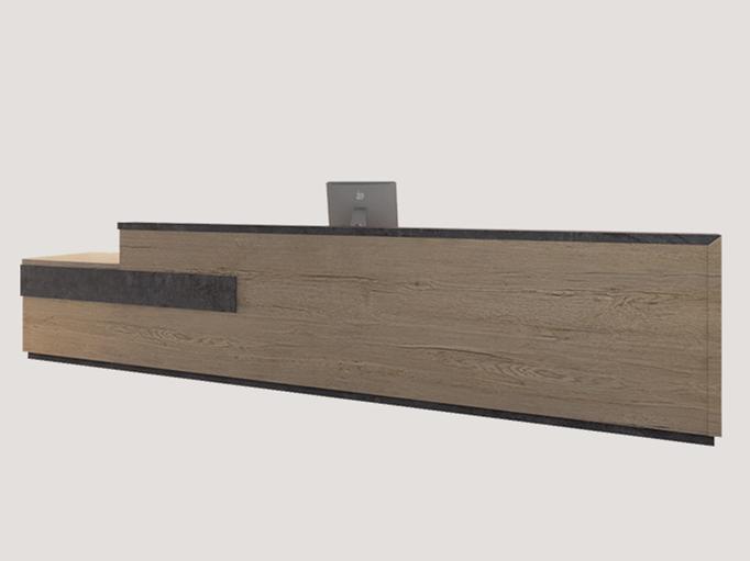公司时尚前台 防火板前台桌 WQT024