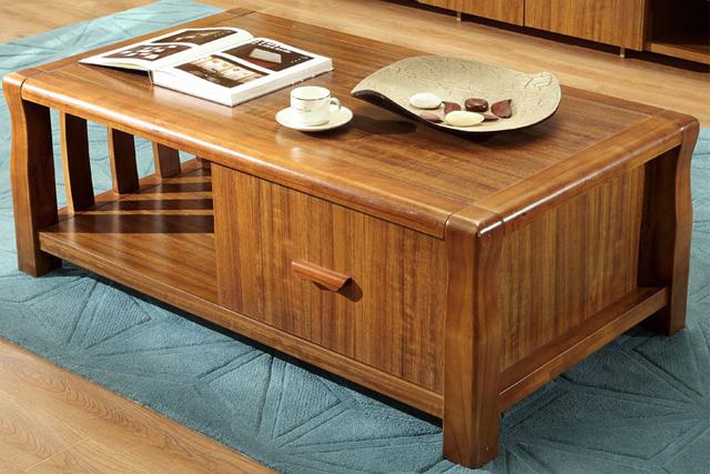 现代简约实木创意办公茶几 方几客厅桌小户型时尚茶几 WCJ020