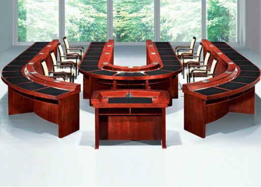 实木喷漆会议桌 U型报告会议桌