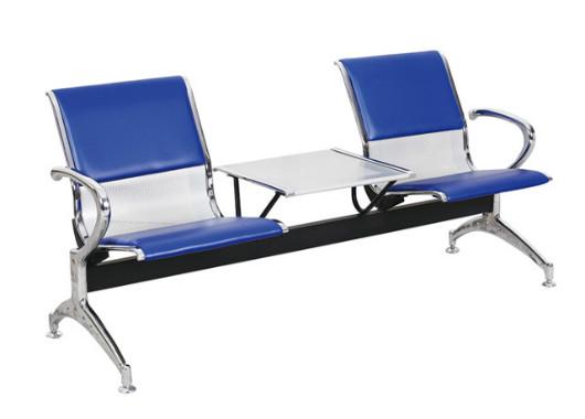 皮艺等候椅机场椅 茶几三人公共排椅 DHY021