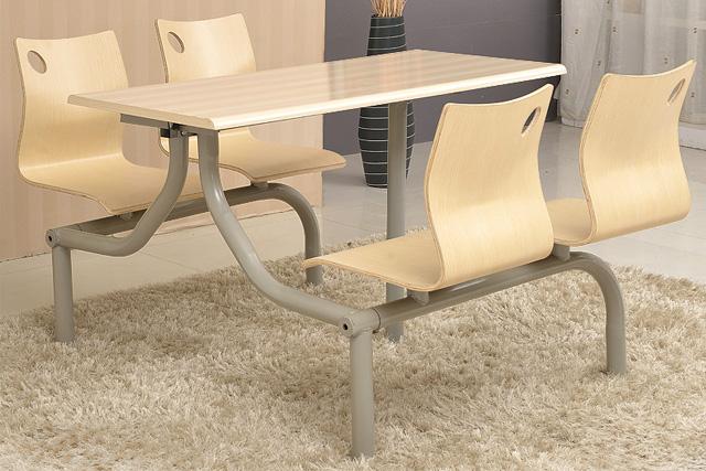钢木结构餐桌椅 员工餐桌椅 WCZY015