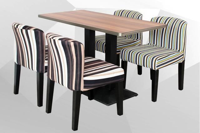 上海西餐厅桌椅 布艺靠背椅 WCZY018