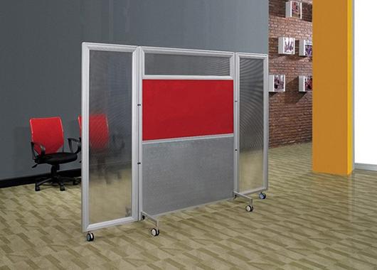 玻璃矮隔断 可折叠隔断 隔间屏风
