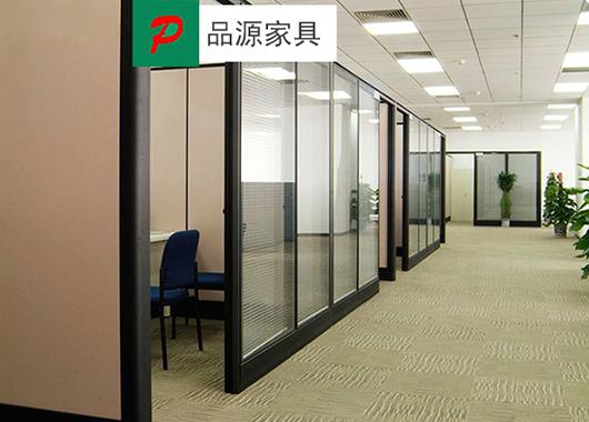 铝合金框架高隔断-办公室铝合金