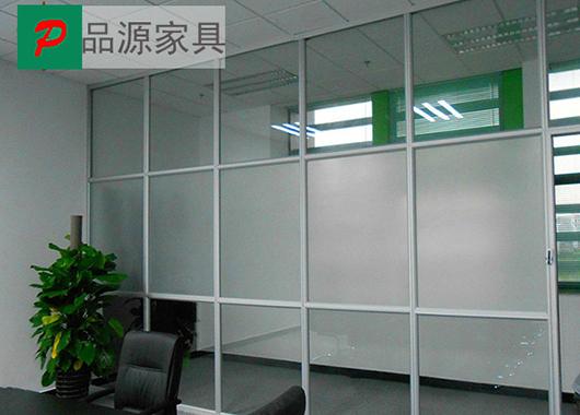 办公区磨砂玻璃隔断墙-磨砂玻璃