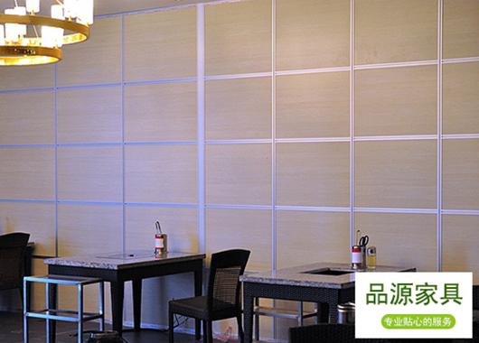 酒店餐厅高隔断 酒店隔断墙 实木