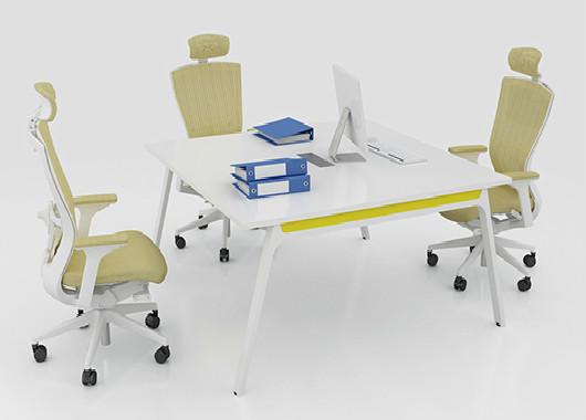 正方形洽谈桌 小型拼接会议桌 QT